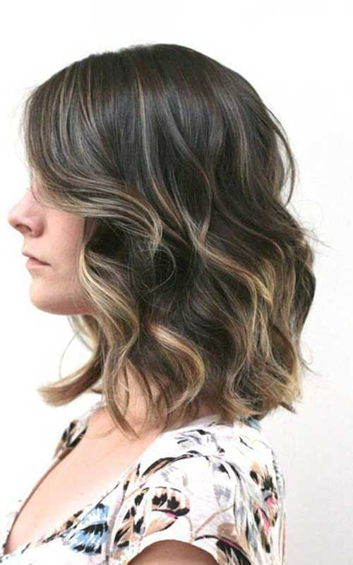 Short Hair Highlighted Ombre