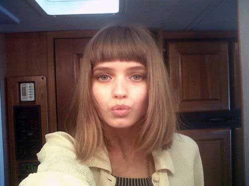Short Hair with Blunt Bangs 2016