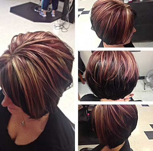 short hairstyles without bangs : hair colors short hair short hair with red highlights fall hair colors ...