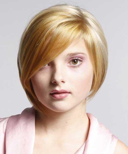 Cute Short Hair for Round Face