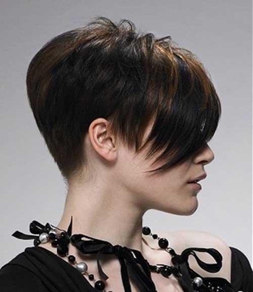 Short Straight Pixie Crop Hairstyles