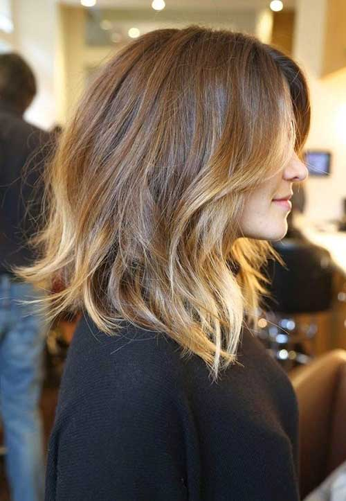 Shoulder Length Highlighted Bob Hairstyles 2015