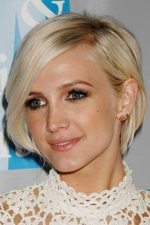 Best Side Swept Short Hairstyles for Round Faces