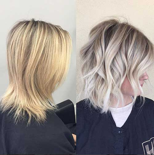 Sombre Loose Waves Short Hairstyles