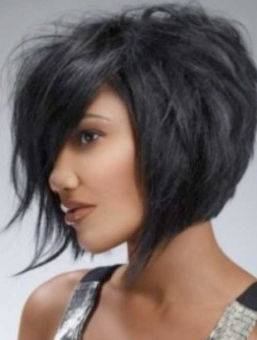 Thick Dark Bob Haircuts 2015