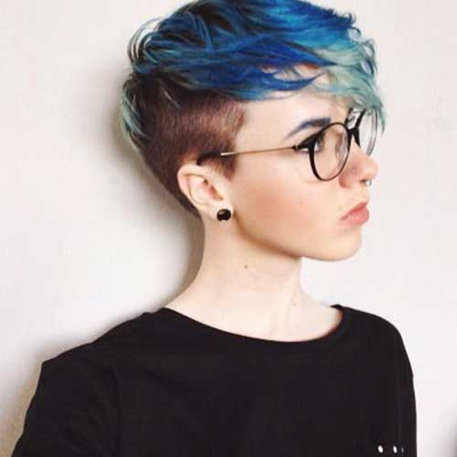 Two Colored Pixie Cuts for Girls