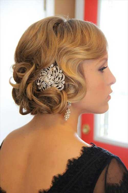 Wedding Soft Curly Bob Hairstyles