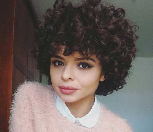 Short Hairstyles for Curly Hair-14