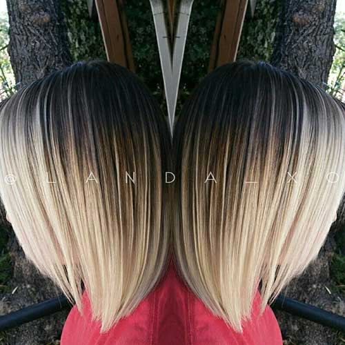 Blonde Ombre Short Hair-10