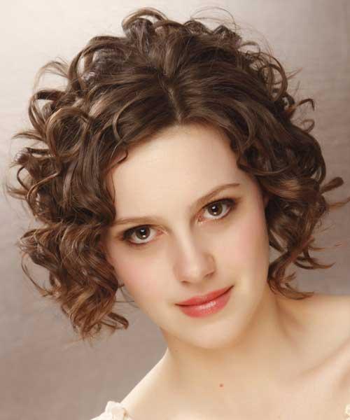 Short Curly Brown Hair-10