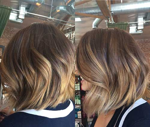 Blonde Ombre Short Hair-11