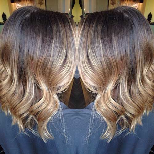 Blonde Ombre Short Hair-12