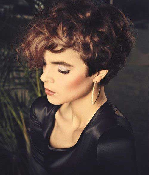 Short Curly Brown Hair-12