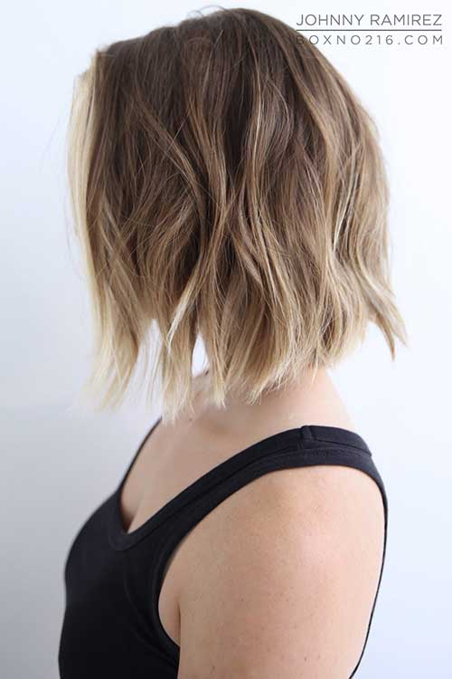 Blonde Ombre Short Hair-14
