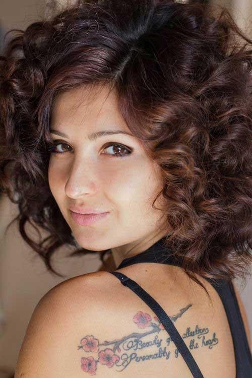 Short Curly Brown Hair-14