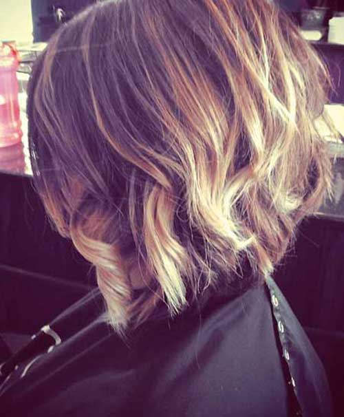 Blonde Ombre Short Hair-16