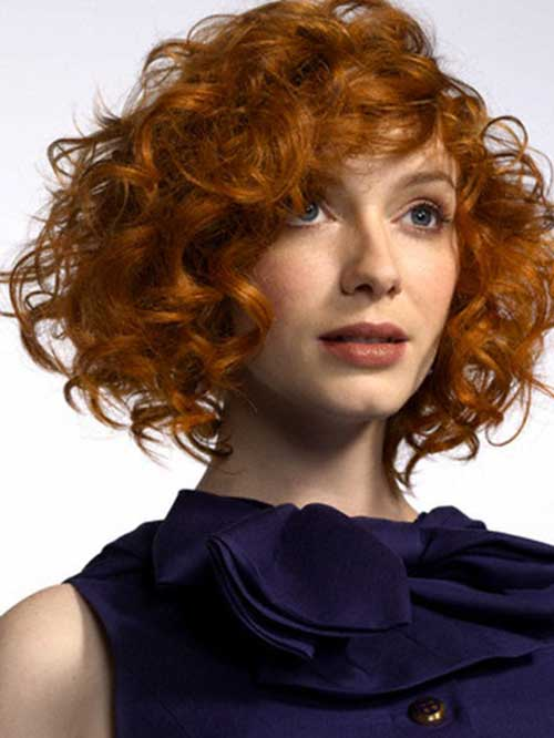 Short Red Curly Hair-16