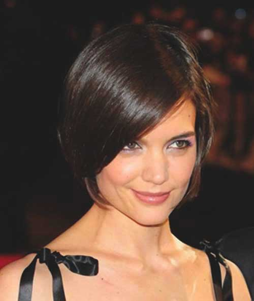 katie holmes recent short hairstyle pictures short