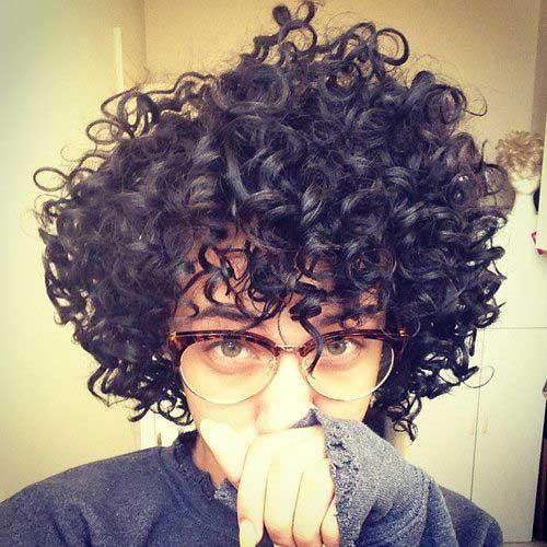 Short Curly Brown Hair-17