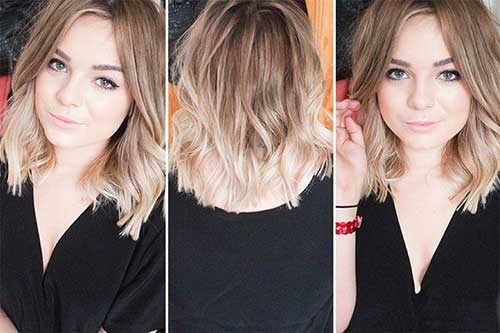 Blonde Ombre Short Hair-18