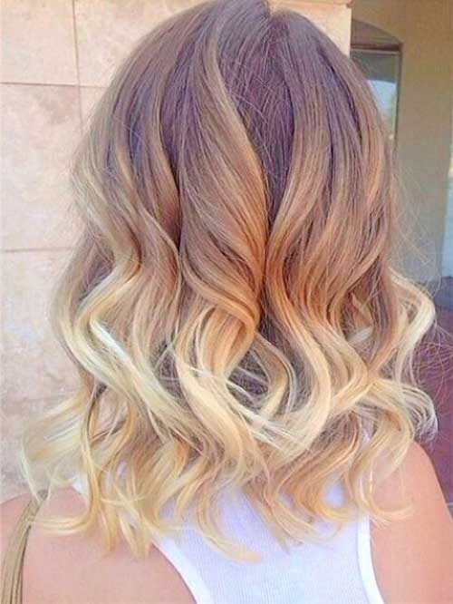 Blonde Ombre Short Hair-20