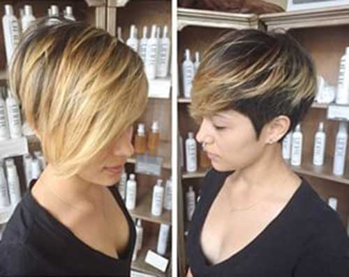Blonde Ombre Short Hair-22