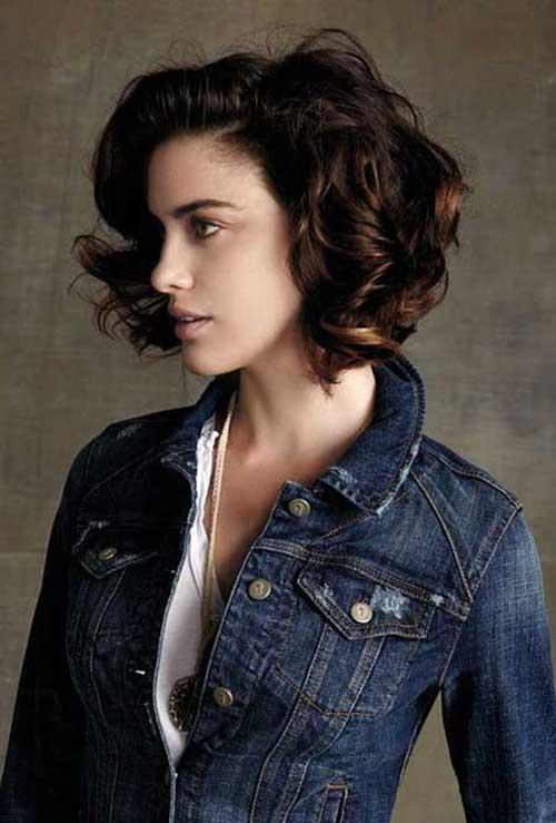 Short Curly Brown Hair-22