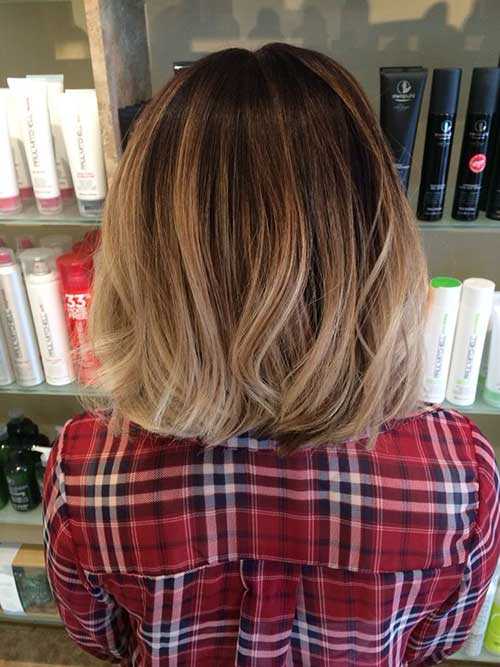 Blonde Ombre Short Hair-23