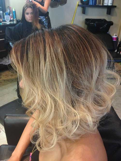 Blonde Ombre Short Hair-24