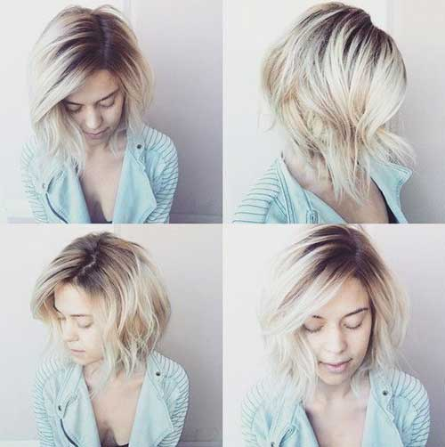 Blonde Ombre Short Hair-25