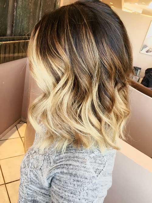Blonde Ombre Short Hair-26