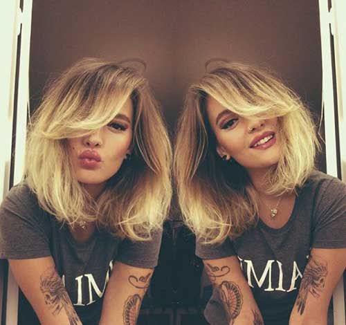 Blonde Ombre Short Hair-32