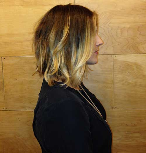 Blonde Ombre Short Hair-33