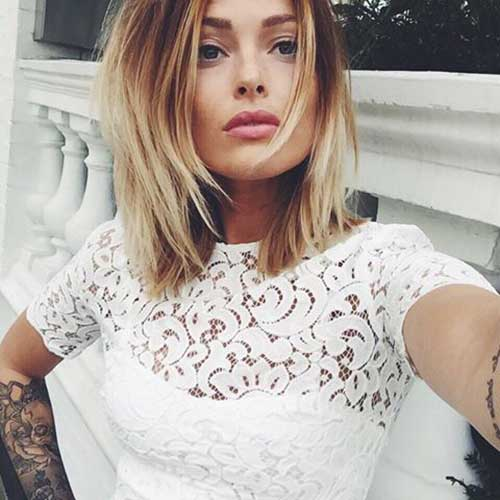 Blonde Ombre Short Hair-34