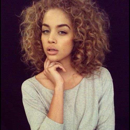 Short Curly Brown Hair-6