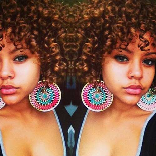 Short Curly Brown Hair-7