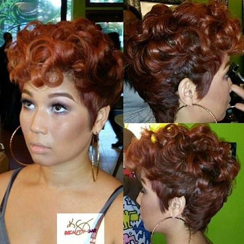 Short Red Curly Hair-7