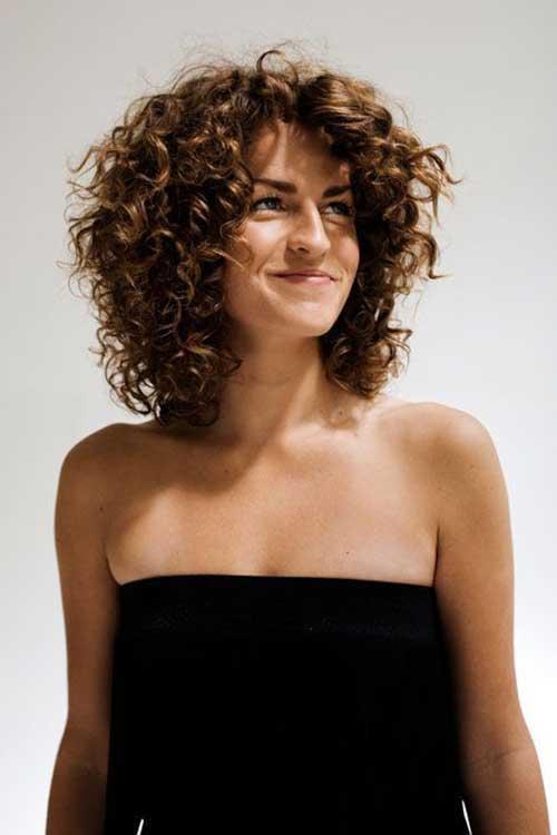 Short Layered Curly Haircuts-10