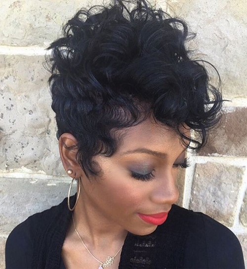 Curly Short Hairstyles for Black Women-11