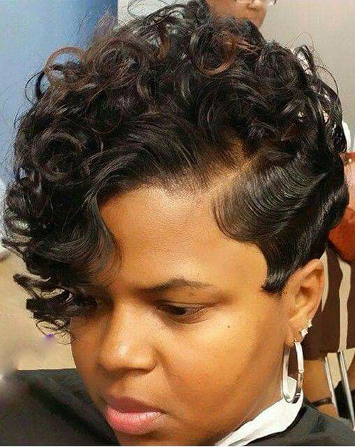 Curly Short Hairstyles for Black Women-12