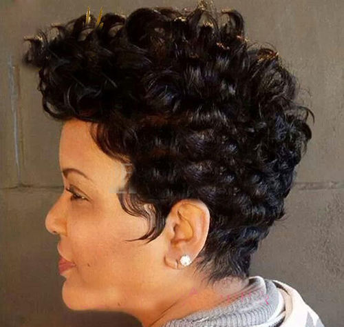 Curly Short Hairstyles for Black Women-13
