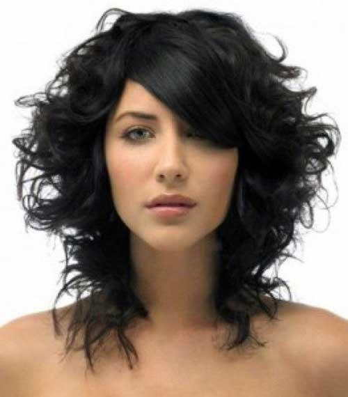 Short Layered Curly Haircuts-17