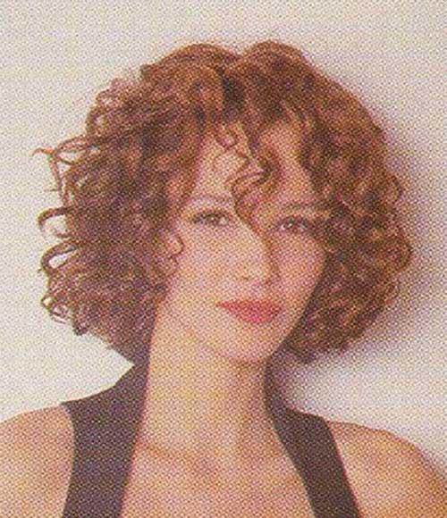 Short Layered Curly Haircuts-21