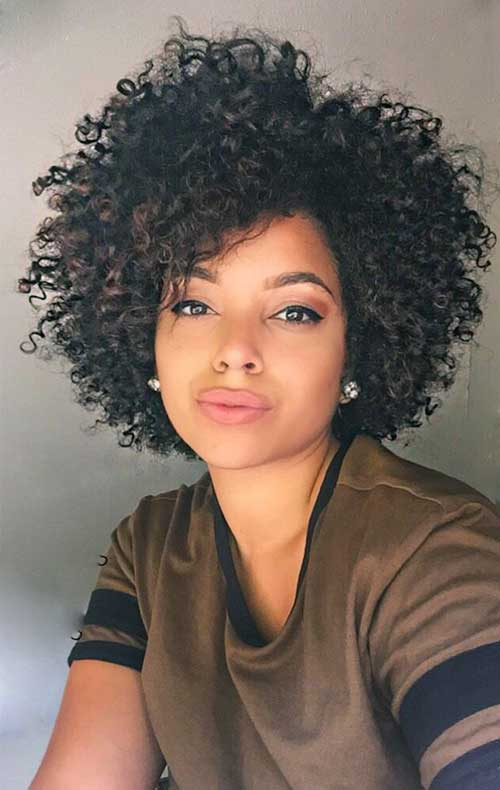 Short Natural Curly Hairstyles-32
