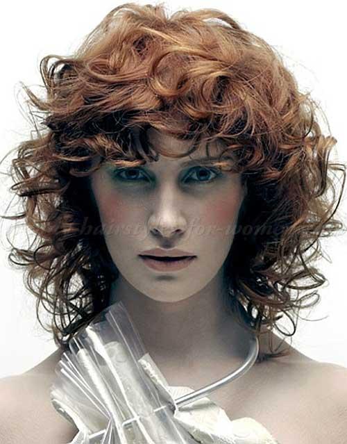 Short Layered Curly Haircuts-9