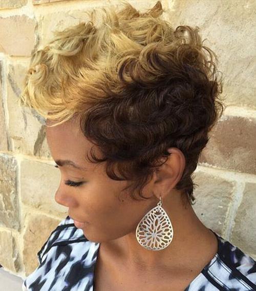 Black Women Short Curly Hair