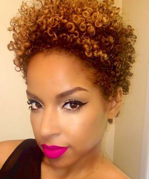 Short Natural Hairstyles for Black Women-11