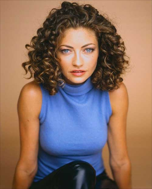 Short Hairstyles for Thick Curly Hair-13