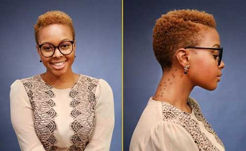 Short Natural Hairstyles for Black Women-17