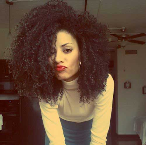 Short Hairstyles for Thick Curly Hair-18